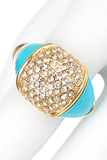 Turquoise Crystal Ring - My Jewel Candy - 1
