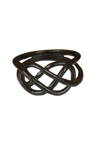 Liquorice Dipped Pretzel Ring - My Jewel Candy - 1