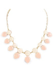 Beige Round and Teardrop Necklace - My Jewel Candy - 3