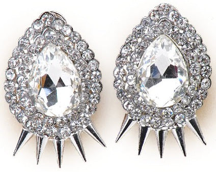 Gatsby Collection Spikey Pear Earrings - My Jewel Candy