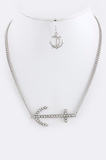 Crystal Anchor Charm Necklace Set - My Jewel Candy - 2