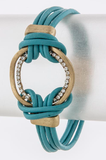 Looped Leather Bracelet - My Jewel Candy - 2