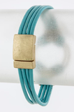 Looped Leather Bracelet - My Jewel Candy - 3
