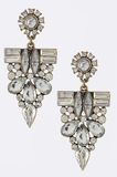 Gunmetal Crystal Drop Earrings - My Jewel Candy - 2