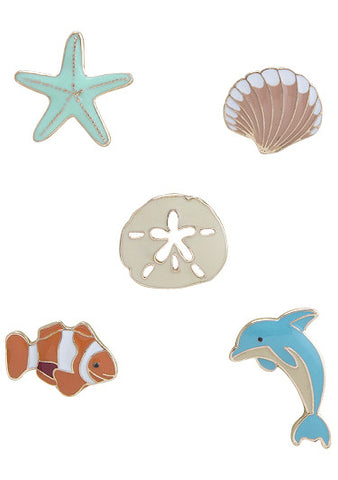 Life's a Beach Enamel Pin Set - My Jewel Candy - 1
