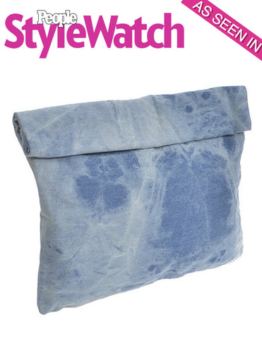 Denim Roll-Over Clutch Bag - As seen in People Style Watch - My Jewel Candy - 1