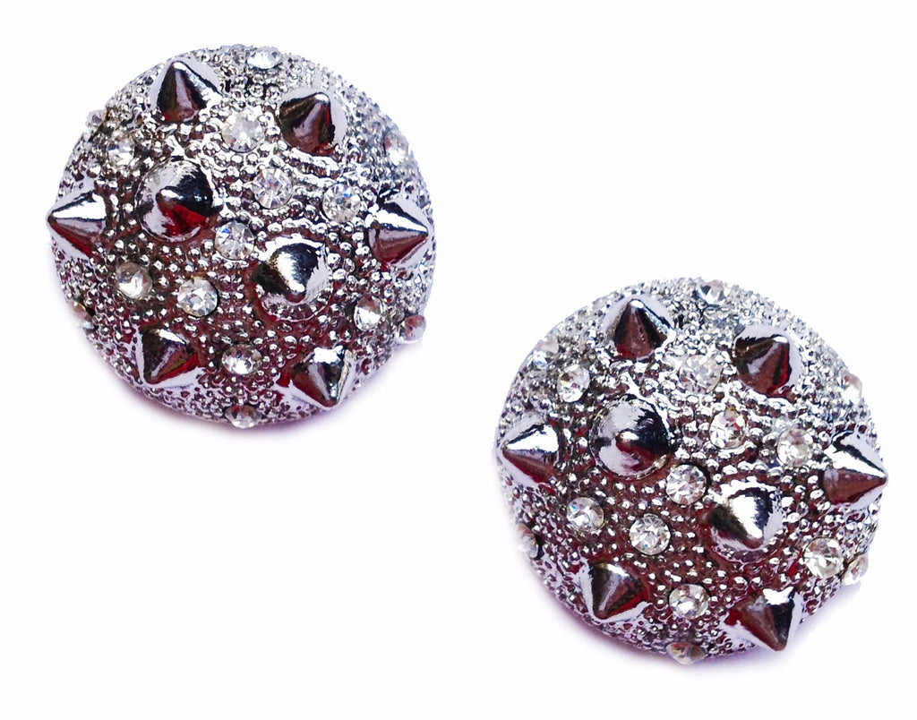 Silver Spikey Stud Earrings - My Jewel Candy