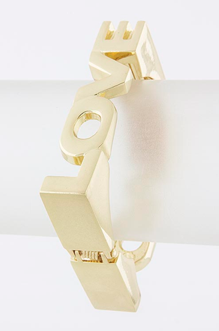 Square Love Bangle Bracelet - My Jewel Candy