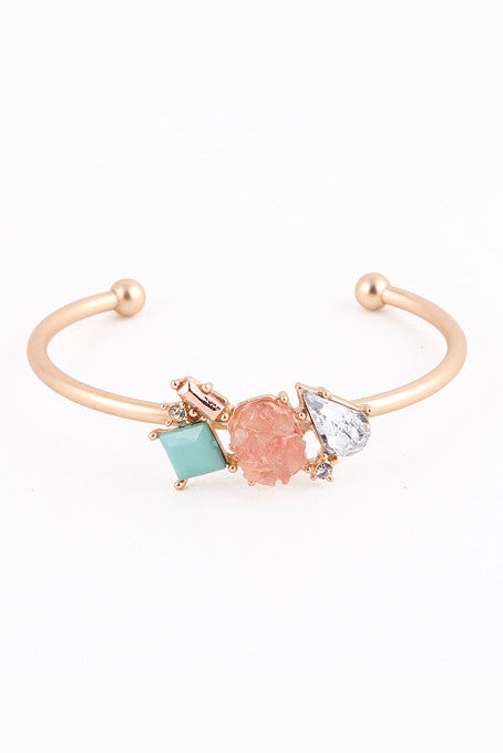 Sweet Tooth Cuff Bracelet (Peach/Mint) - My Jewel Candy - 1