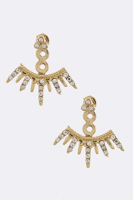 The Phoenix Double-Sided Ear Jackets Earrings - My Jewel Candy