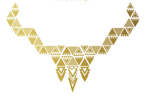 "24 Karat Jewelry Tattoo ""Triangle Princess"" (Gold Candy) - My Jewel Candy - 1"