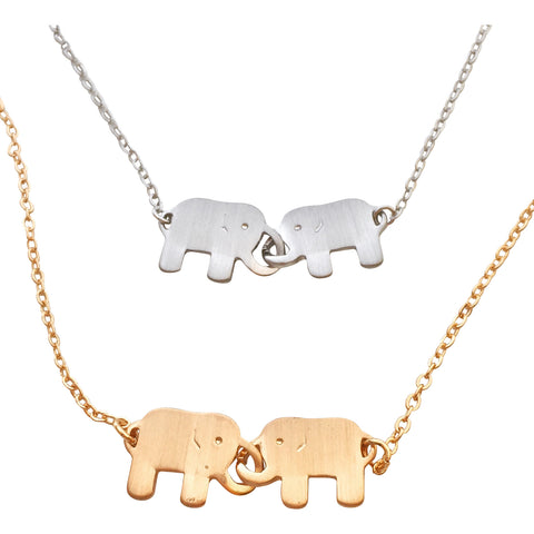 Trunks of Love Elephant Necklace - My Jewel Candy