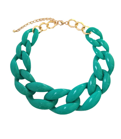 Turquoise Chain Necklace - My Jewel Candy