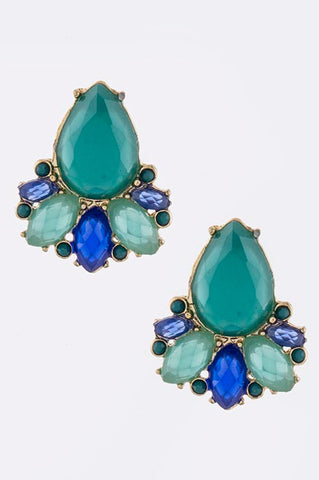 Turquoise Papillon Earrings - My Jewel Candy