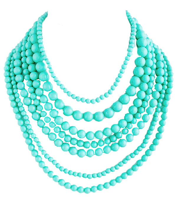 Turquoise Layered Bead Necklace - My Jewel Candy