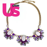 Shades of Purple Necklace (Seen in Us Weekly Magazine)