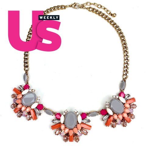The New Years Eve Necklace  (Seen in Us Weekly Magazine) - Coral shade