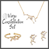 Virgo Zodiac Jewelry Constellation Holiday Gift Set