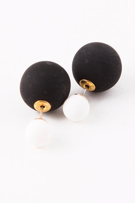 Black & White Double-Sided Earrings - My Jewel Candy - 1