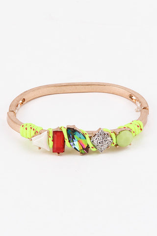 Neon Yellow Crandy Crush Bracelet - My Jewel Candy - 1