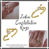 Zodiac Constellation Rings