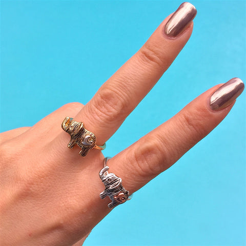 Elephant Heart Ring by Social Saints - My Jewel Candy - 1