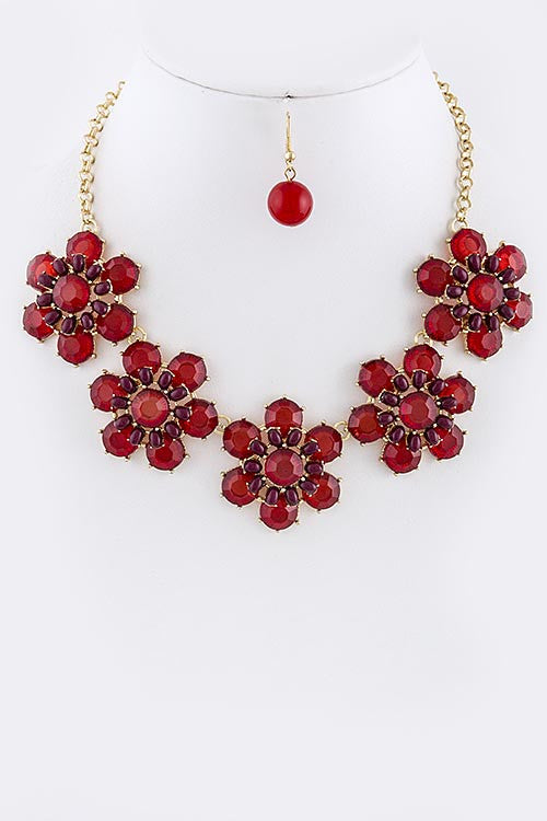 Floral Dome Necklace - My Jewel Candy
