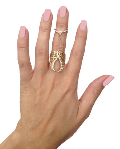 Angel Wing Double Ring - My Jewel Candy - 1