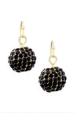 Cream Dangle Disco Ball Earrings - My Jewel Candy - 3