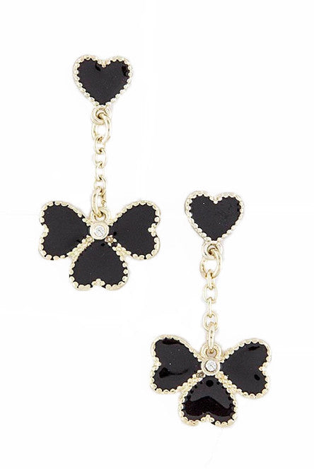 Clover Heart Earrings - My Jewel Candy