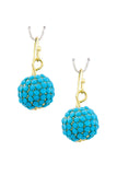 Turquoise Dangle Disco Ball Earrings - My Jewel Candy - 7