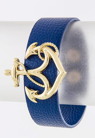 Blue Anchor Wrap Bracelet - My Jewel Candy - 1