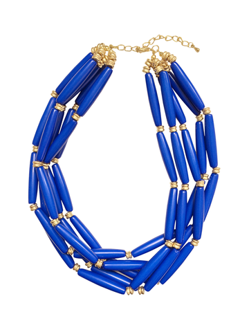 Blue Hawaii Bib Necklace - My Jewel Candy