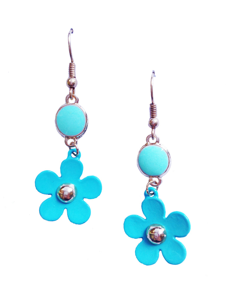 Turquoise Flower Earrings - My Jewel Candy