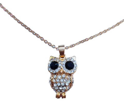 Jeweled Owl Pendant Necklace - My Jewel Candy