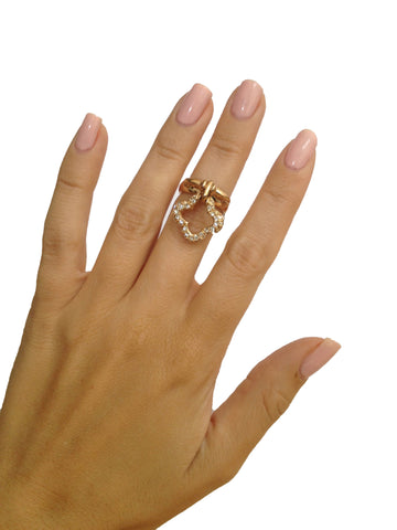 Dangling Clover Midi-Ring or Ring - My Jewel Candy