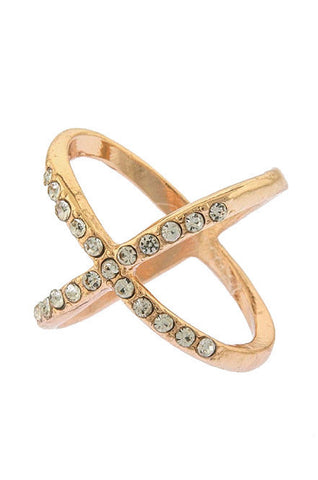 X Ring (Rose-Gold) - My Jewel Candy - 1