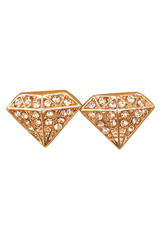 "Rose Gold ""Diamond"" Earrings - My Jewel Candy"