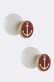 Double Sided Anchor Accent Earrings - My Jewel Candy - 1