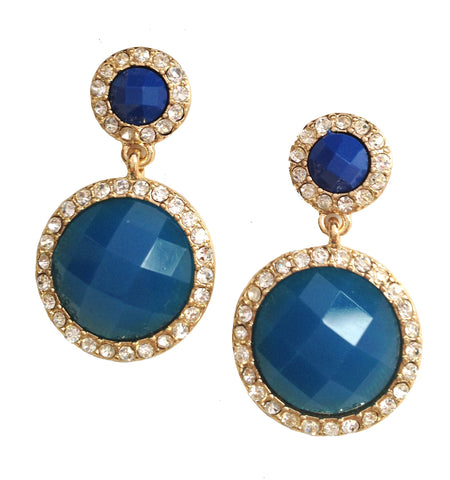 Dual Tone Royal Earrings - My Jewel Candy