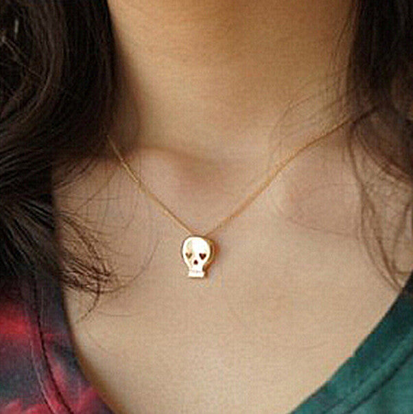 Delicate Skull Pendant - FREE SHIPPING - My Jewel Candy - 1