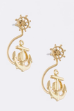 Curved Anchor Earrings - My Jewel Candy - 1