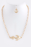 Side Anchor Chain Necklace - My Jewel Candy - 1