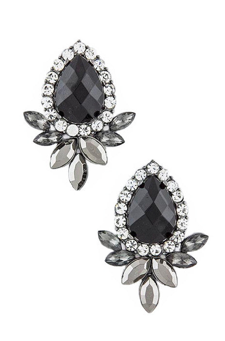 Floral Jeweled Earrings - My Jewel Candy
