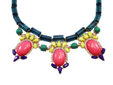 Jewel Fantasy Necklace - Green & Pink - My Jewel Candy - 3
