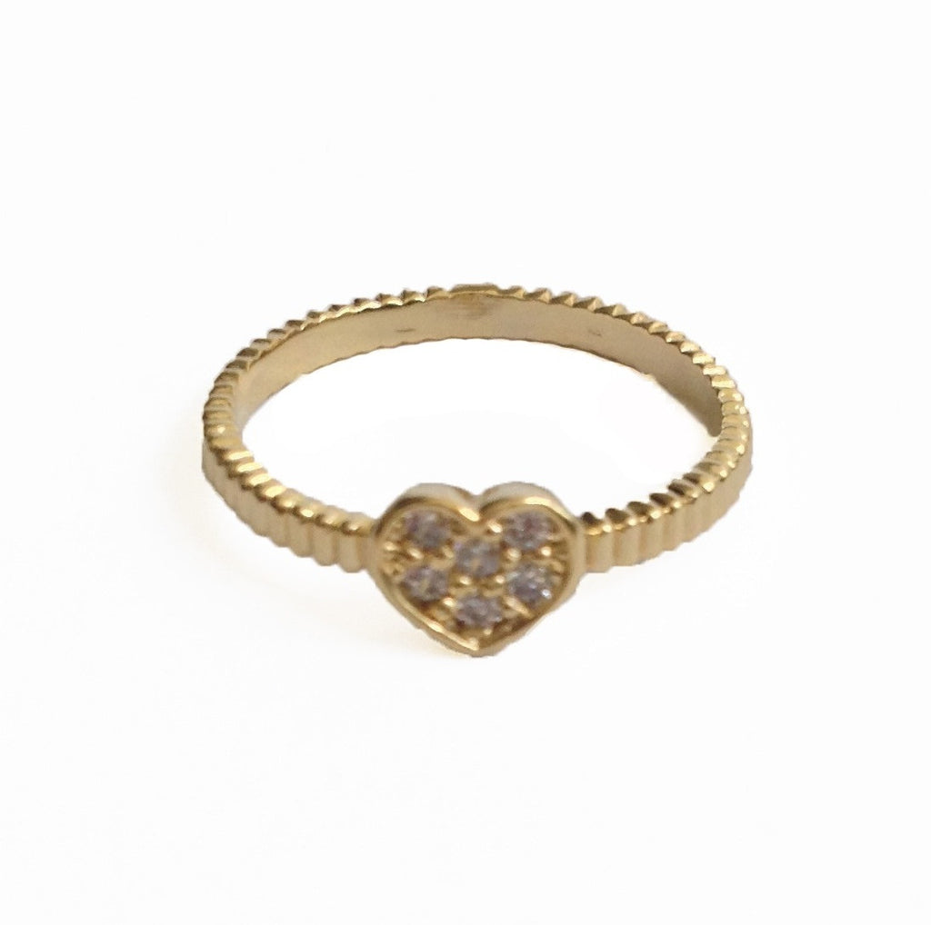 Crystal Heart Knuckle or Pinky Ring - My Jewel Candy