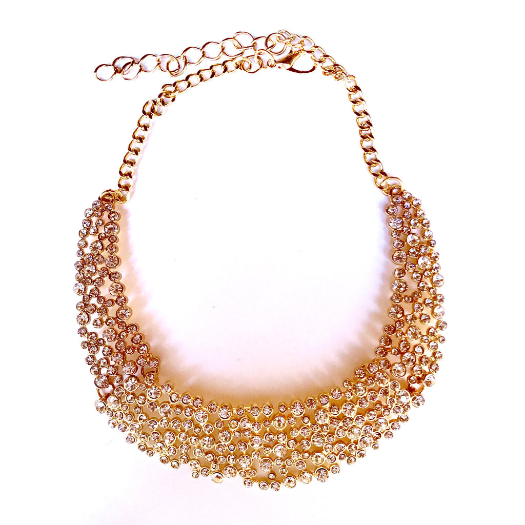 Crystal Bubbles Collar Necklace