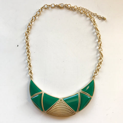 Green & Gold Necklace