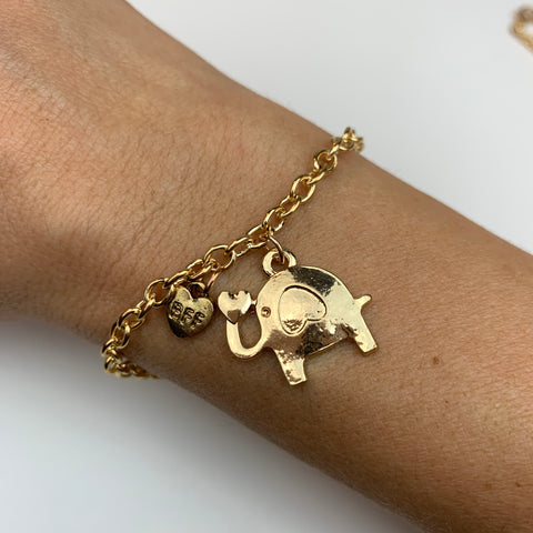 BFF save the elephants bracelet
