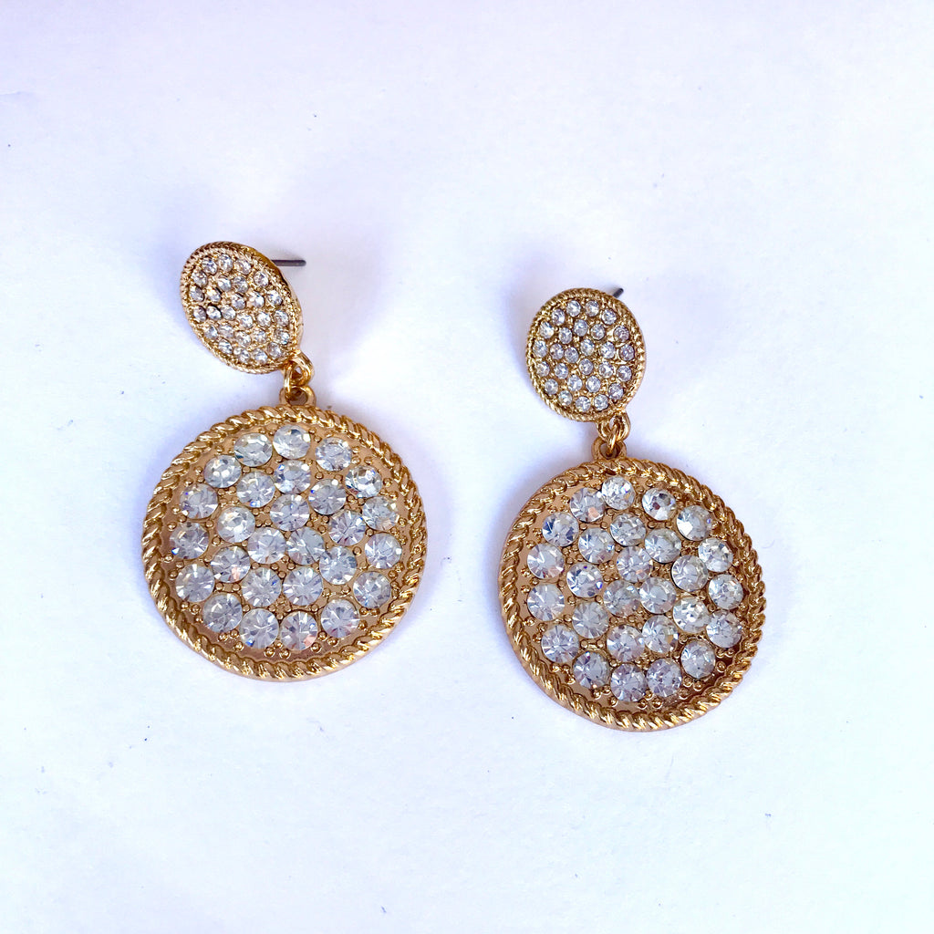 💎Round Crystal Brilliance Earrings 💎